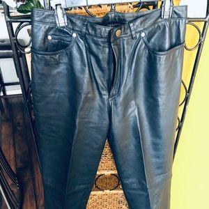 Dana Buchman Pants & Jumpsuits - BOGO Dana Buchman Genuine Navy Leather Pants